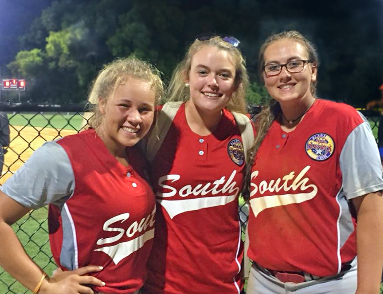 Local incoming seniors from left, Ava Worthy (BCHS), Olivia Coaker (GSHS) and Kahalley Brooks (BCHS) represented Baldwin County in the 2018 All-star game.