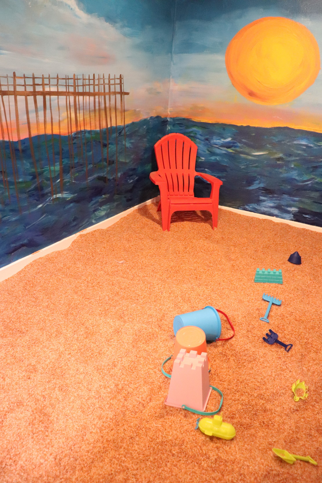 "The spa features a children's room where the ""beach"" is covered in ground pink Himalayan salt."