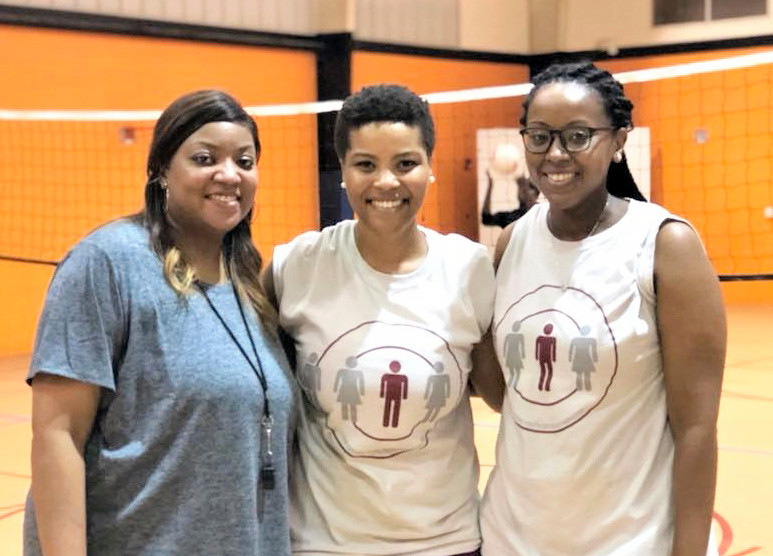 Coaches LaToya Baker, Renee Richardson and Cecily Williams