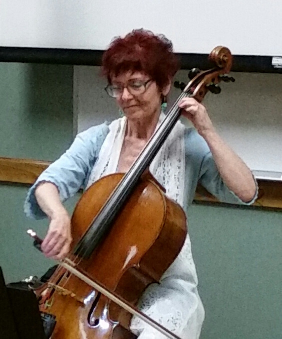 Della Grigsby, the cellist with pizzazz.