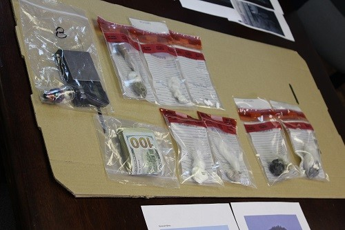 Evidence seized during a routine traffic stop Friday, Aug. 3 in Lillian.