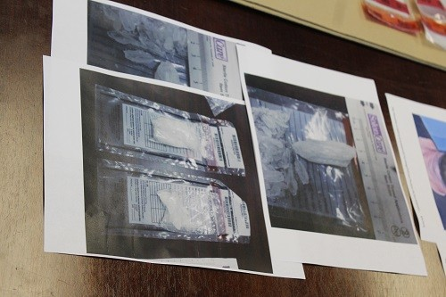Photos of evidence in a methamphetamine trafficking arrest Sunday, Aug. 5 in Styx River.