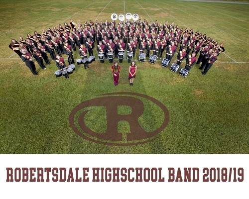 The Robertsdale High School Golden Bear Marching Band is ready for the 2018-19 season.