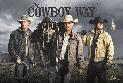 Season 4 of the original series The Cowboy Way, featuring Robertsdale cowboy Cody Harris, left, Booger Brown and Bubba Thompson, is set to premiere Sunday on INSP.