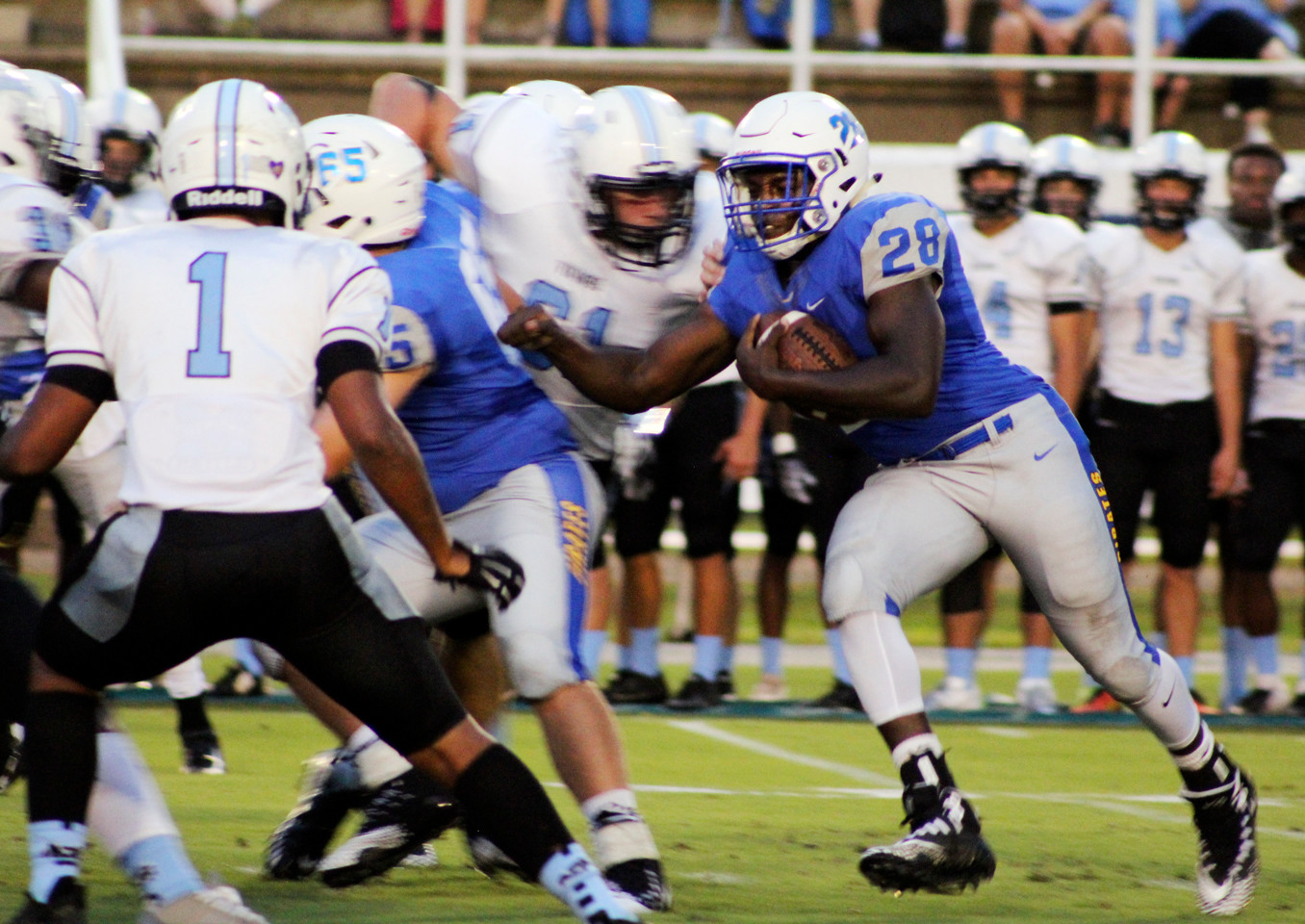 Senior running back Darnell Bell scored on a 26-yard run on the Pirates opening drive Friday night.