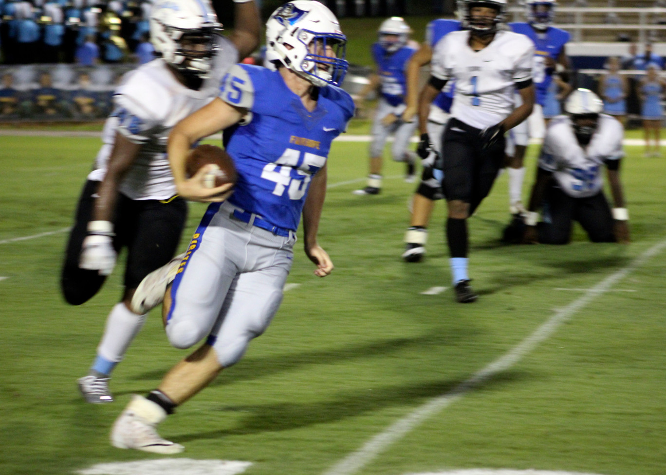 Senior running back Michael Colclasure led the Pirates with 110 yards on eight carries in Friday night's victory.