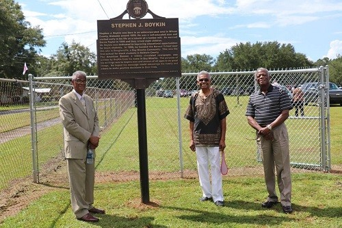 Stephen J. Boykin's grandsons, from left, the Rev. D.L. Boykin, Al Boykin and Jerald Boykin.