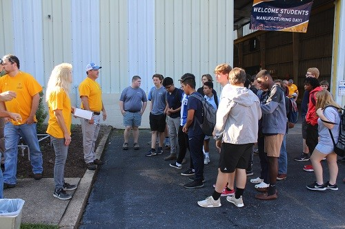 Students from Foley High School tour the Vulcan Inc. plant in Foley as part of National Manufacturing Day.