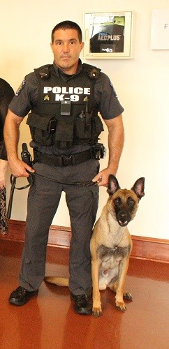 Chief Michael Taylor and his canine partner Robi.