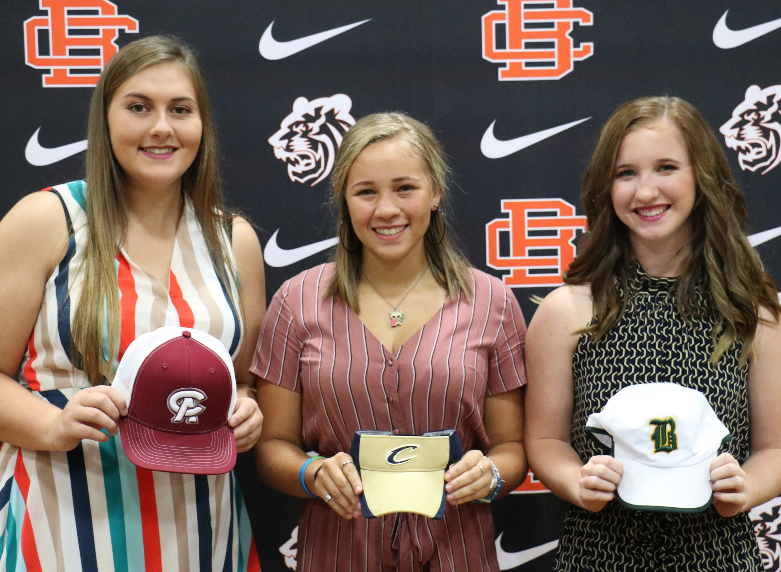 Kahalley Brooks, Ava Worthy and Layla Hadley inked softball scholarships at Baldwin County High School.