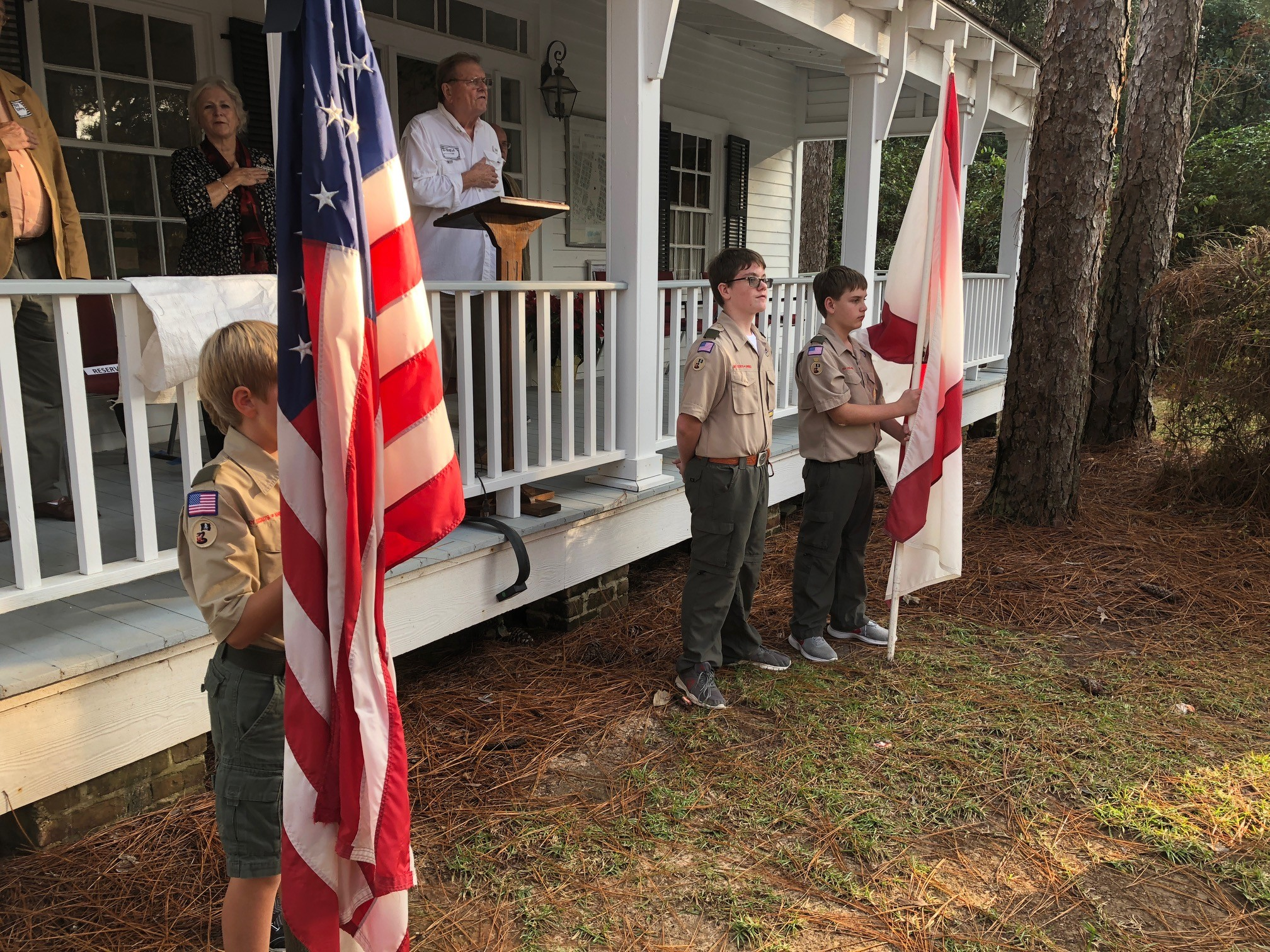 Fairhope's Boy Scout Troop 47 presented the colors at the event.