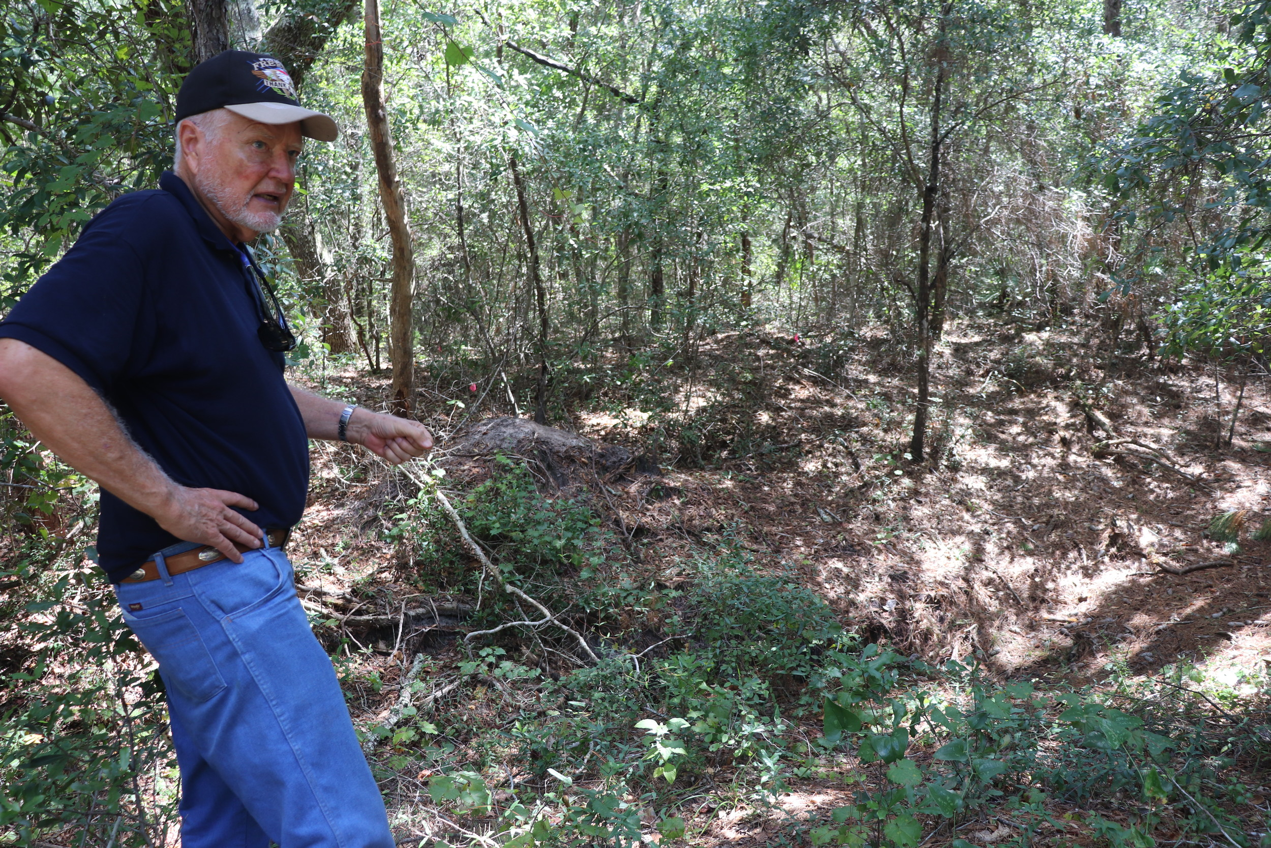 Harry King has devoted years to finding the Indian Canal on Fort Morgan. His efforts have uncovered a site that archeologists believe is 1,400 years old and is one of the only surviving sites of its kind.