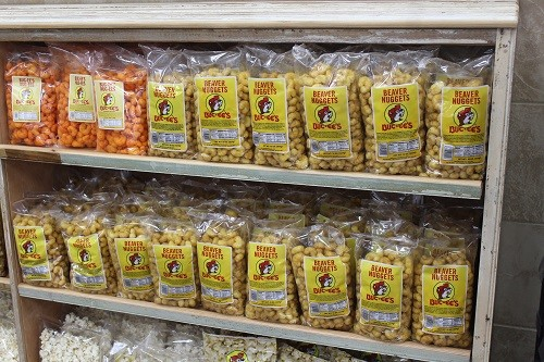 One of Buc-ee's signature items is a product called Beaver Nuggets, which is a caramel coated snack.