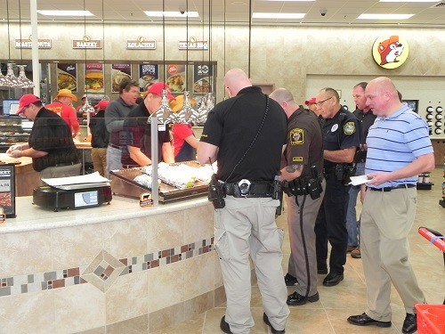 Buc-ee's Travel Center, located off County Road 68 and the Baldwin Beach Express, held a reception for first responders on Friday. The first to be built outside the state of Texas, the Loxley location opened at 6 a.m. on Monday.