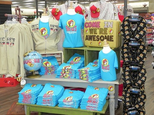 T-shirts specific to the Loxley location are available for sale at Buc-ee's.