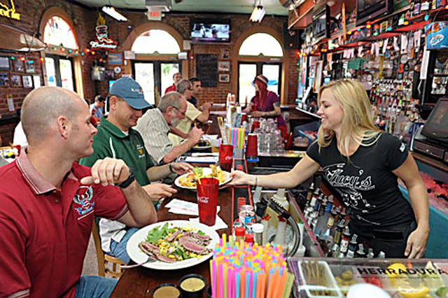 Lucy's is known for its laid-back and fun atmosphere.