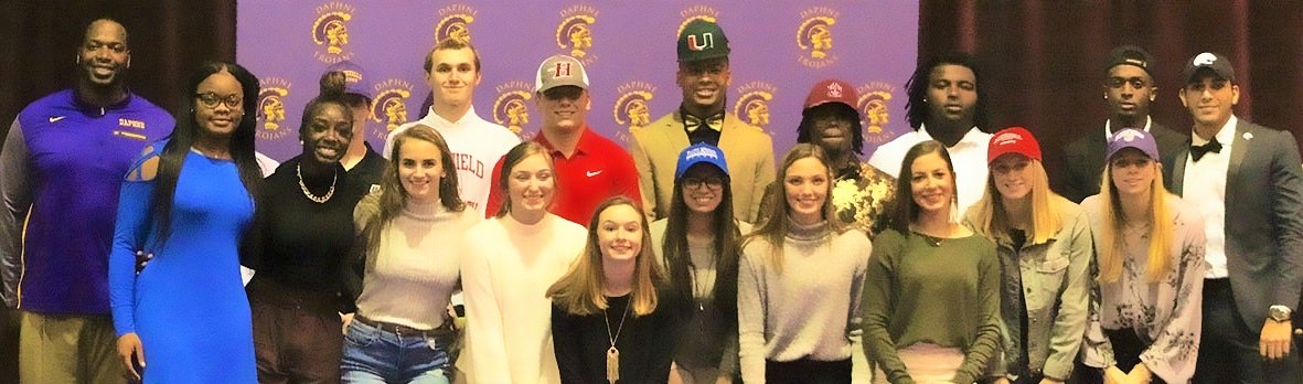Signing Day 2019 at Daphne High.