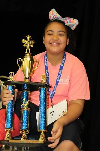 2019 Baldwin County Spelling Bee Champion Jessi Dade, a fifth grader at Elberta Elementary.