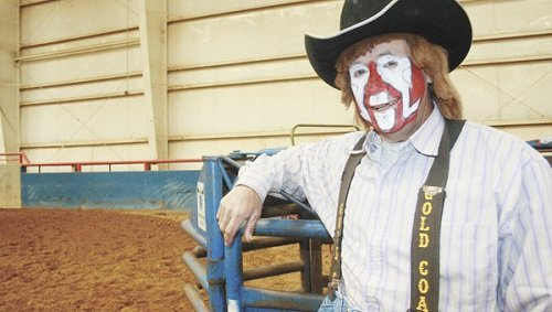 Rodeo clown Reggie Purvis, known as the Raging Cajun, will provide entertainment for this year's rodeo.