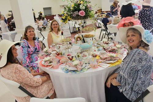 The Robertsdale High School Alumni Association celebrated Alabama's bicentennial at its 11th Annual Tea Party on Saturday, Feb. 23. Several tables were decorated to celebrate famous people and places around the state.