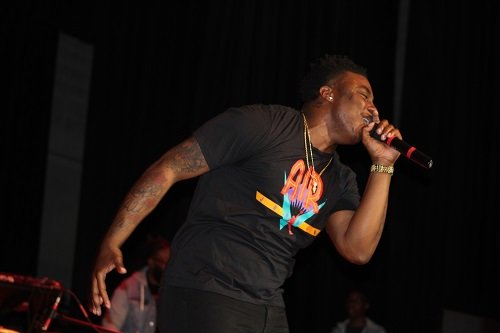 Kirk Jay gave his all at a performance before his hometown crowd Saturday, March 23 at the L.D. Owen Performing Arts Center on the campus of Coastal Alabama Community College in Bay Minette.