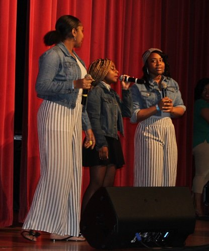 Opening acts included Trinity, a trio of students from Daphne High School, and King James Jr., billed as a Gospel mime, from Mobile.