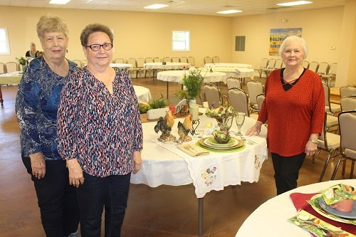 Cooking contest winners, from left, Barbara Lawson, first place; Diane Sopr and Jean Fontaine, tied for second.