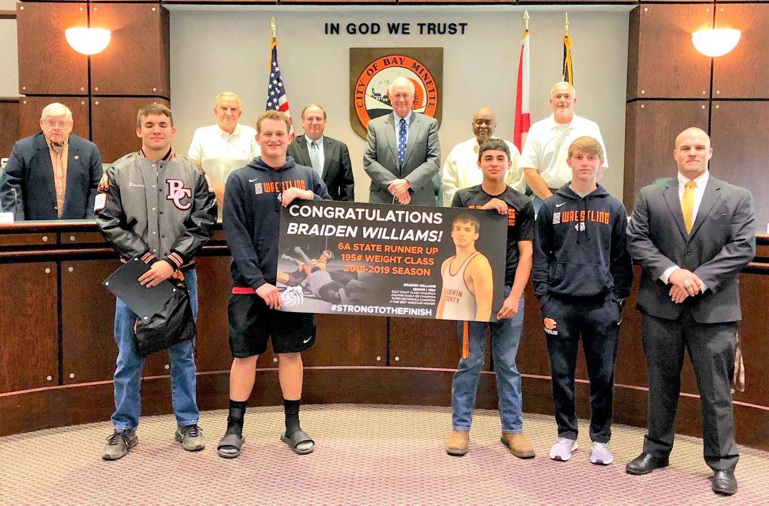 Braiden Williams with Bay Minette City Council.
