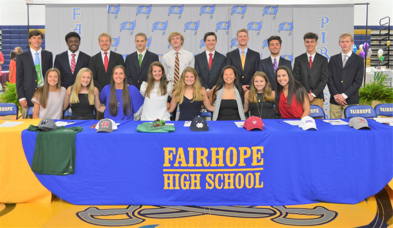 2019 Signees at Fairhope High, May 1.