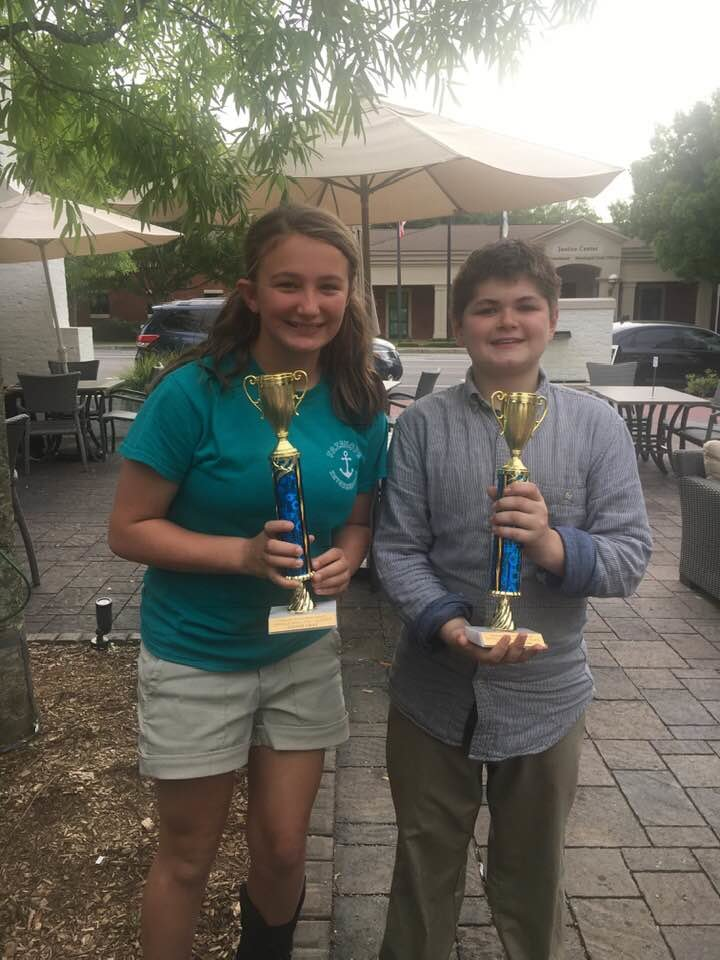 Sydney Gray and Tucker Marlow, Fairhope Intermediate School sixth graders placed first in the statewide Stock Market Club competition for grades 4 – 8 and took first place in the school competition.