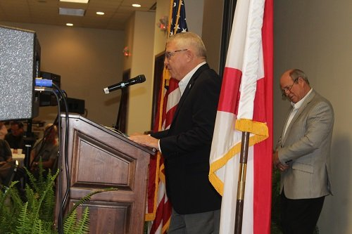 Baldwin County School Superintendent Eddie Tyler gave the opening prayer.