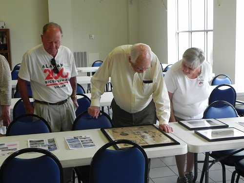Photos and articles showing the history of Lillian were on display at the Lillian Community Center.