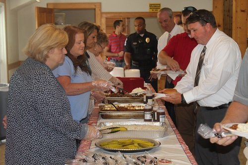 "An ""Honoring Our Heroes"" reception for all first responders followed the ceremony, hosted by the Central Baldwin Chamber of Commerce at the PZK Hall in Robertsdale."