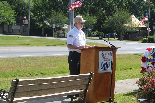 Guest speaker retired U.S. Army veteran Samuel Rollason.