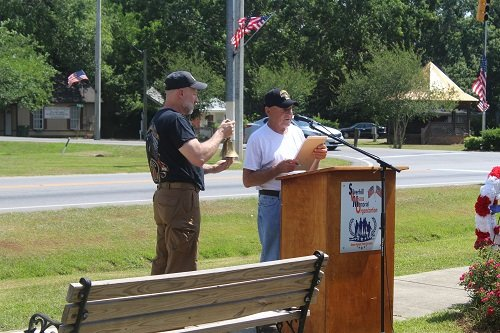 Honoring veterans from the Silverhill area who lost their lives over the last year, Frankie Kucera and Joel Sterling.