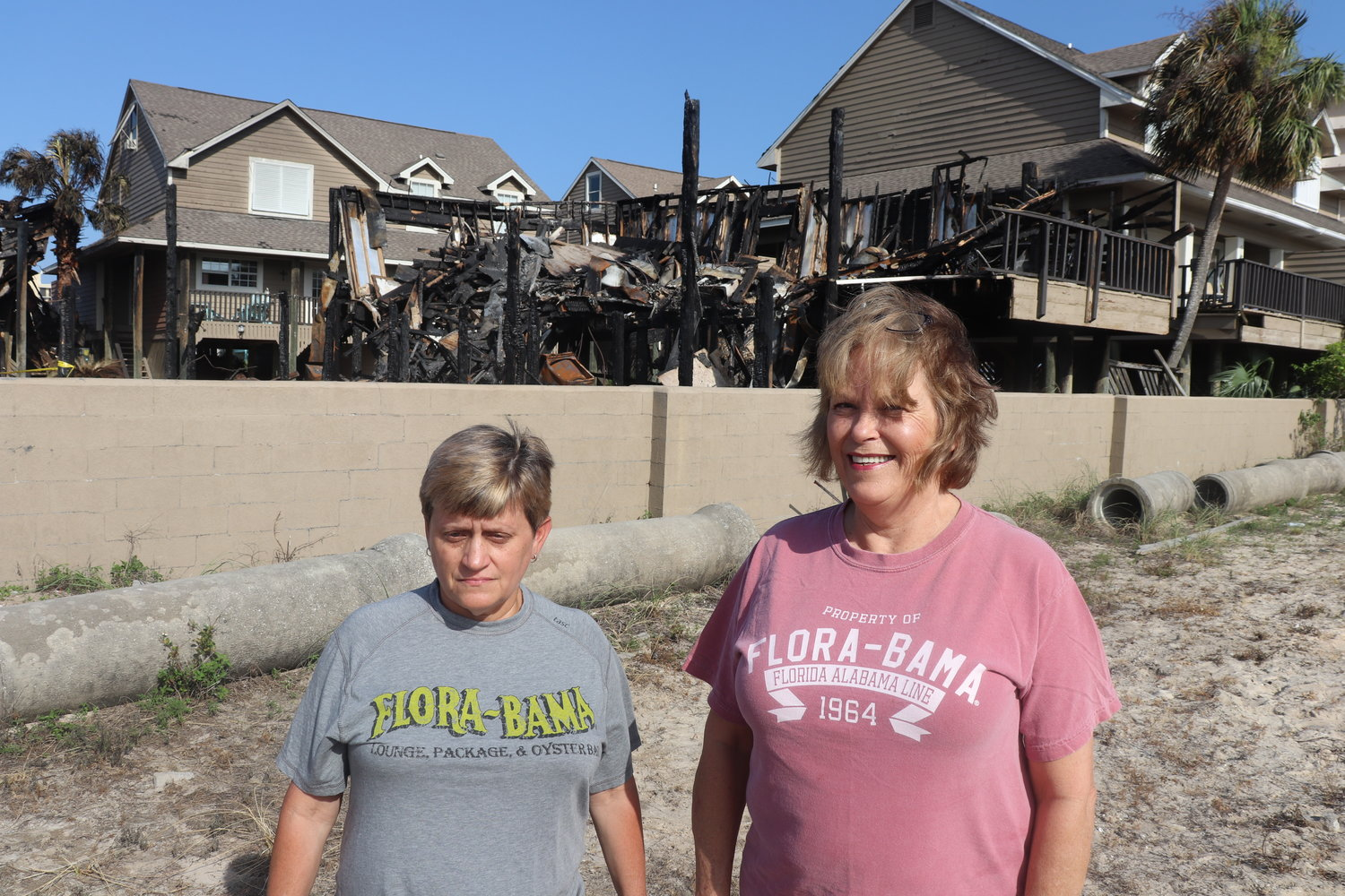 Robin Lusk and Janice Curtis say they were in the right place at the right time to help residents escape the fire before firefighters arrived.