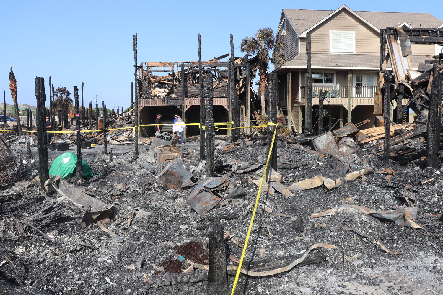 Little is left of the condo homes in Key Harbour and Pescador Landing after fire engulfed the neighborhood early Wednesday morning.