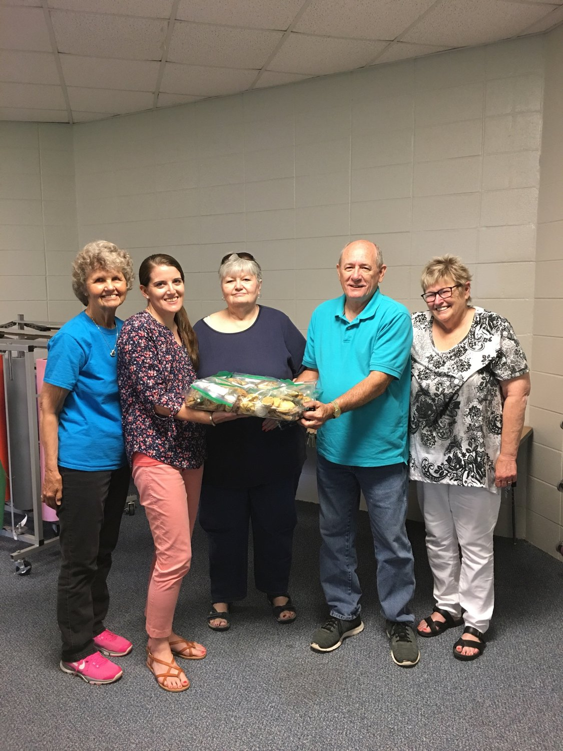 Left to right: Sharon Davis, Elberta Elementary School Secretary, Crystal Gregg, Rochelle Brooks, Tom Harris and Barbara Harris.