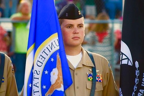 Robertsdale High School JROTC Cadet Hunter Theodoro