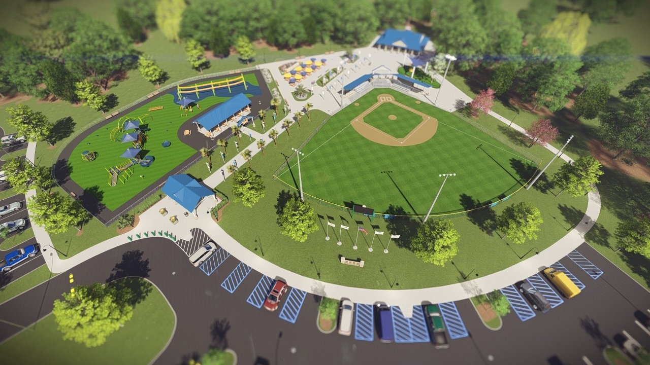 A rendering of the Miracle League field in Summerdale. The city donated 40 acres to the organization.