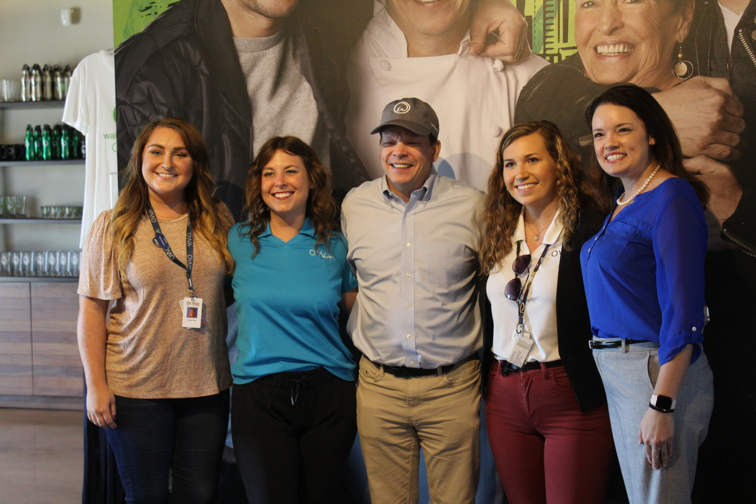 Paul Wahlberg visits the OWA Wahlburgers location.
