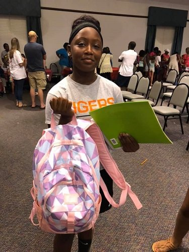 Students won backpacks filled with items donated by local individuals at the annual Back to School Bash Aug. 3 in Bay Minette.