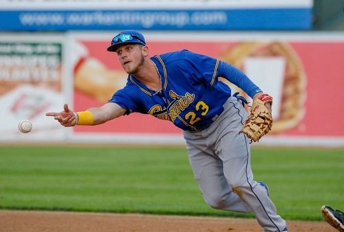 Jordan Ebert continues to compete as an infielder for the AA Sioux Falls Canaries in South Dakota.
