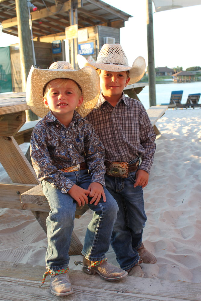 Ty and Tee Paul from Mississippi were two of the younger cowboys at the Bulls on the Beach.