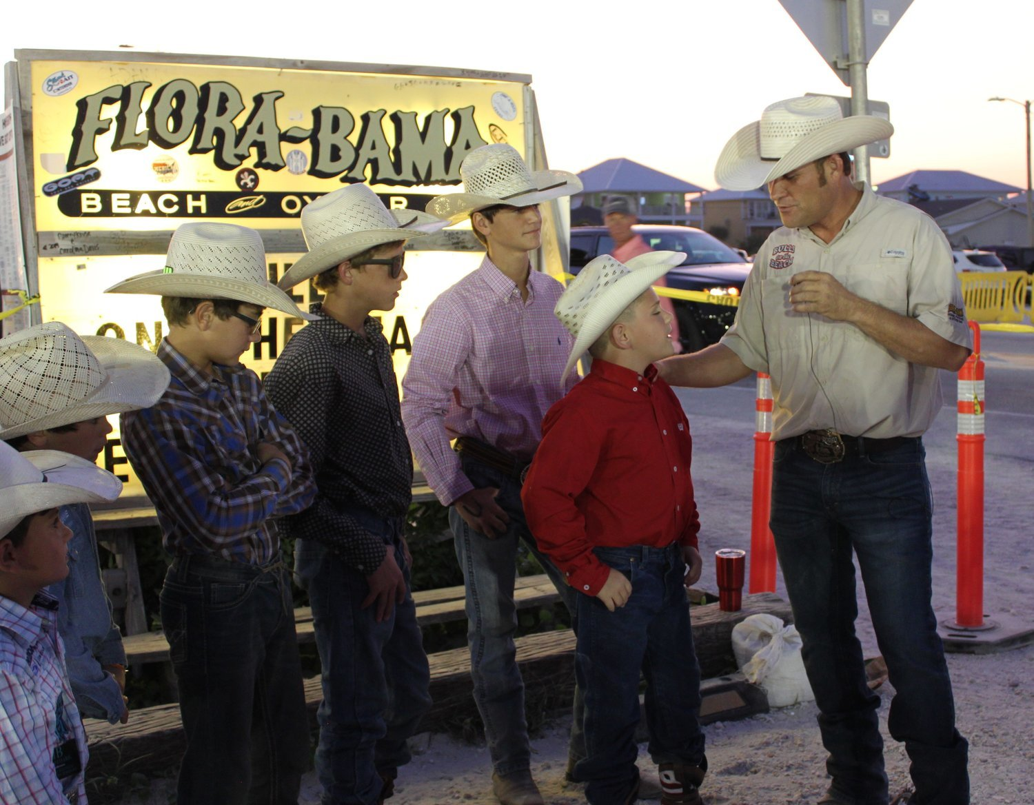 "Booger Brown, one of the stars of ""The Cowboy Way Alabama"" on the INSP Network, interviewed the younger cowboys Friday evening before the rodeo got started. Ranging in age from five to 14 years old, these cowboys took to the arena riding bucking ponies and bulls."