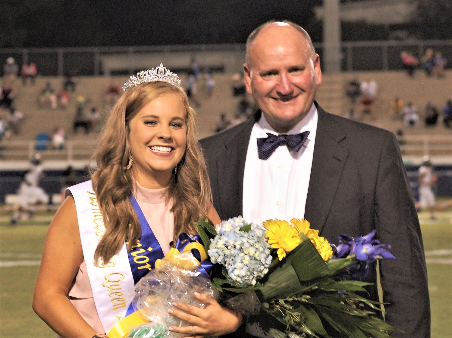 Mary Kathleen Hughes was crowned Fairhope High's 2019 homecoming queen. With her is her father James Hughes.