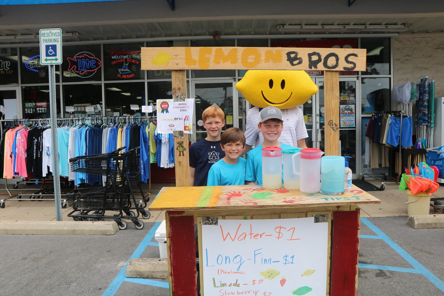 Lemon Bros working their stand in front of Sam's on Canal Road May 4.