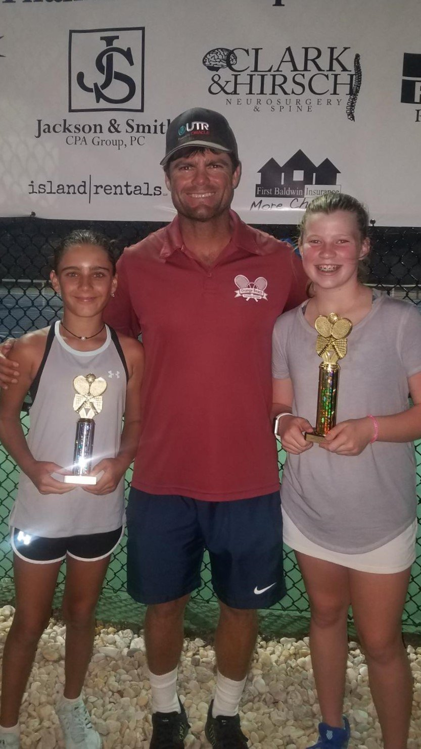 Girls 12 - Finalist Teresa Mojs of Gulf Shores and Winner Olivia Ferguson of Mobile.