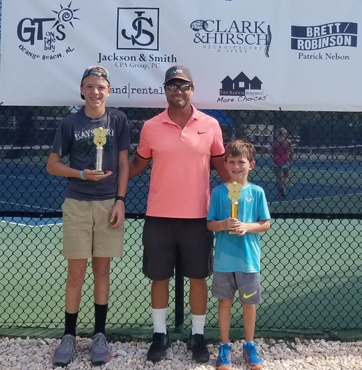 Boys 12 - Finalist Caden Phillippi of Silverhill and Winner Thomas Brutkiewicz of Mobile.