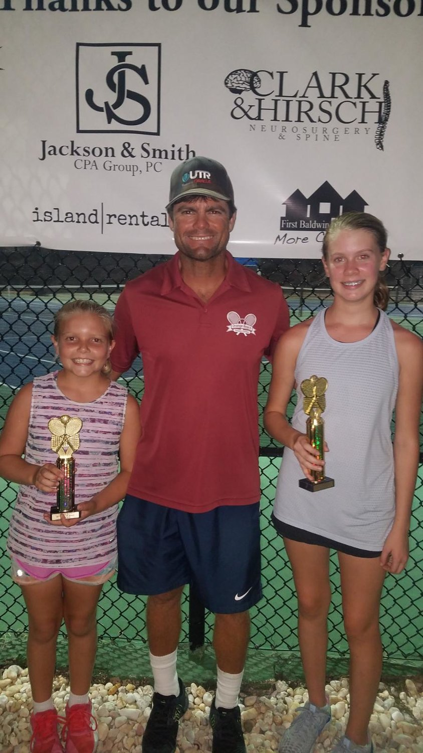 Girls 14 - Finalist Blaeze Russell of Orange Beach and Winner Catherine Wilbur of Mobile.